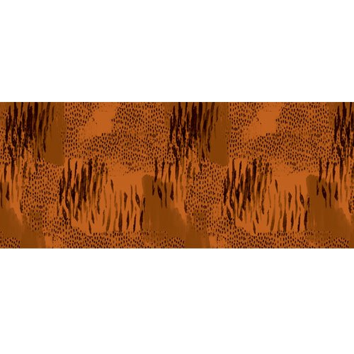 Abstract Brown Animal Print PVC Party Sign Decoration 60cm x 25cm Product Image