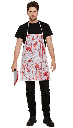 Adult Bloody Apron Halloween Fancy Dress Product Image