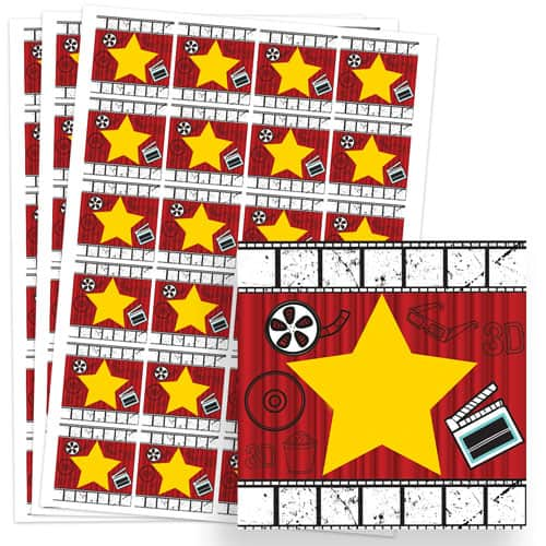 Hollywood Design 40mm Square Sticker sheet of 24 Product Image