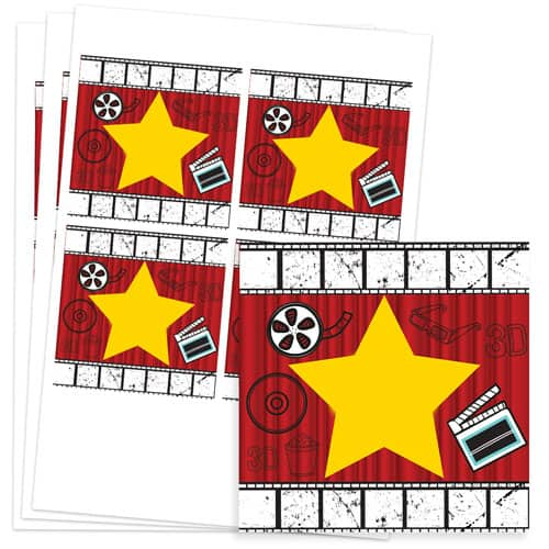 Hollywood Design 95mm Square Sticker sheet of 4 Product Image