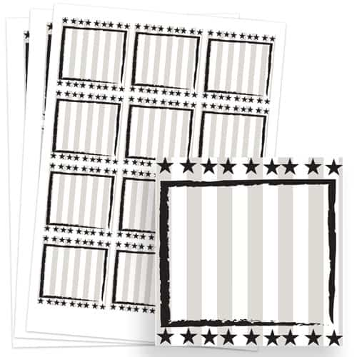 Wild West Design 65mm Square Sticker sheet of 12 Product Image
