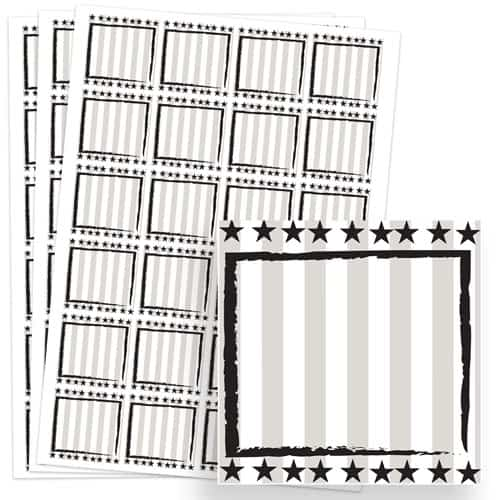 Wild West Design 40mm Square Sticker sheet of 24 Product Image