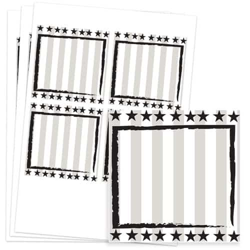 Wild West Design 95mm Square Sticker sheet of 4 Product Image