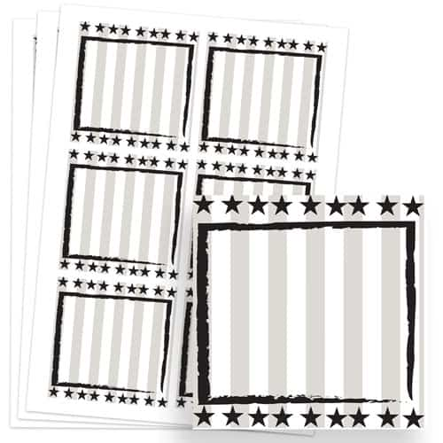 Wild West Design 80mm Square Sticker sheet of 6 Product Image