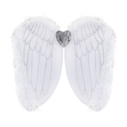 White Angel Wings Adults Christmas Fancy Dress Product Image