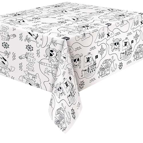 Ahoy Pirate Colouring Paper Tablecover 213cm x 137cm Product Image