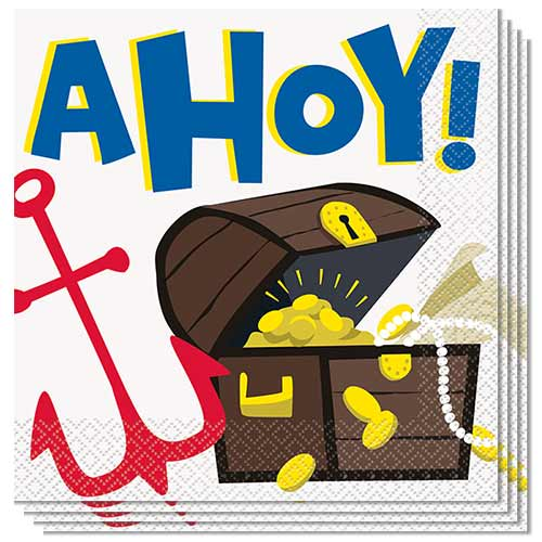 Ahoy Pirate Luncheon Napkins 33cm 2Ply - Pack of 16 Product Image