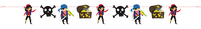 Ahoy Pirate Paper Garland Banner 213cm Product Image