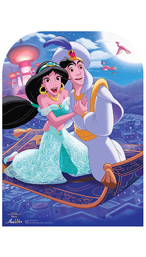 Disney Aladdin Scene Magic Carpet Lifesize Cardboard Cutout 130cm
