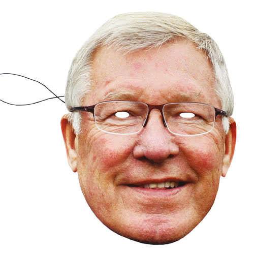 Alex Ferguson Cardboard Face Mask