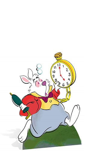 Alice In Wonderland The White Rabbit - 77cm Product Image