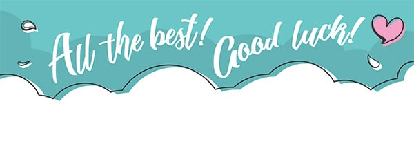 All The Best Good Luck Design Medium Personalised Banner 6ft x 2.25ft