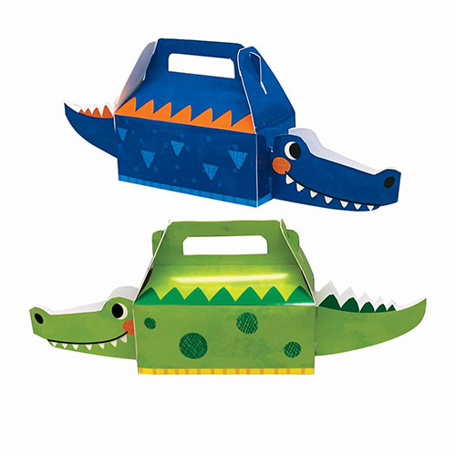 Alligator Party 3D Treat Boxes - Pack of 4 Product Image