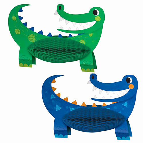 Alligator Party Honeycomb Table Centrepiece Decoration - Pack of 2