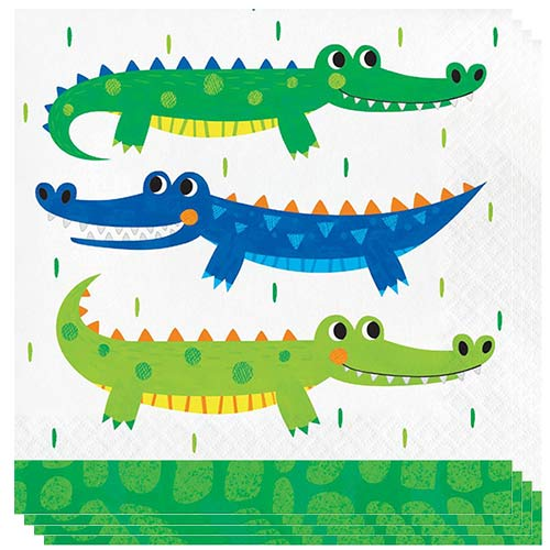 Alligator Party Luncheon Napkins 33cm 2ply - Pack of 16 Bundle Product Image