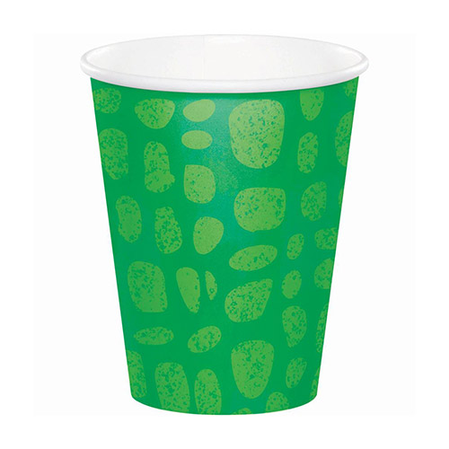 Alligator Party Paper Cups 266ml - Pack of 8