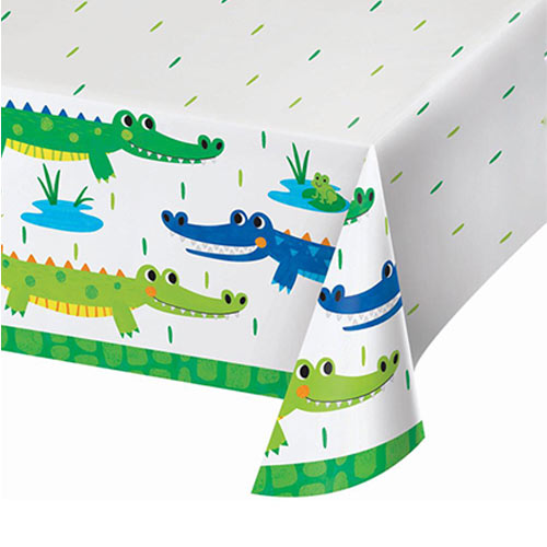 Alligator Party Paper Tablecover 259cm x 137cm Product Image