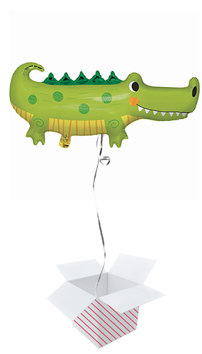 Alligator Party Shaped Helium Foil Giant Balloon - Inflated Balloon in a Box Product Image