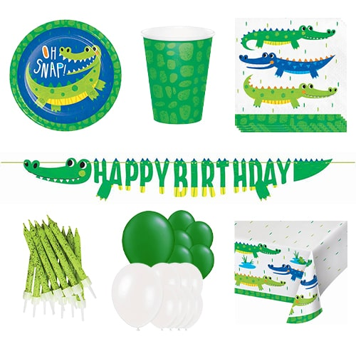 Alligator Party 16 Person Deluxe Party Pack Product Image