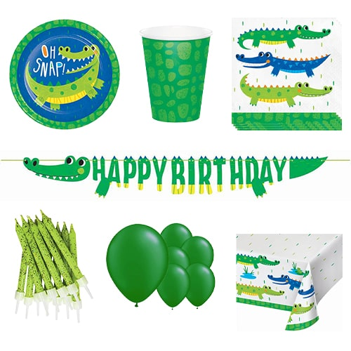Alligator Party 8 Person Deluxe Party Pack Product Image
