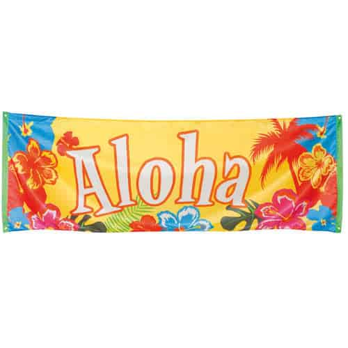 Aloha Party Polyester Banner 220cm Product Image