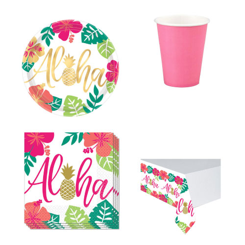 Aloha Summer 8 Person Value Party Pack Product Image