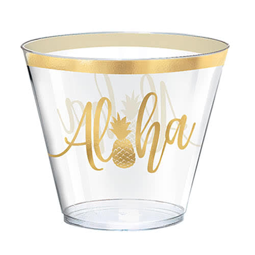 Aloha Summer Hot Stamped Plastic Tumbler 266ml - Pack of 30
