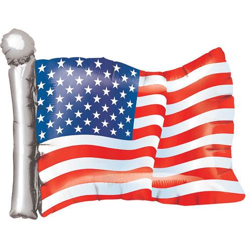American Flag USA Helium Foil Giant Balloon 68cm / 27  in