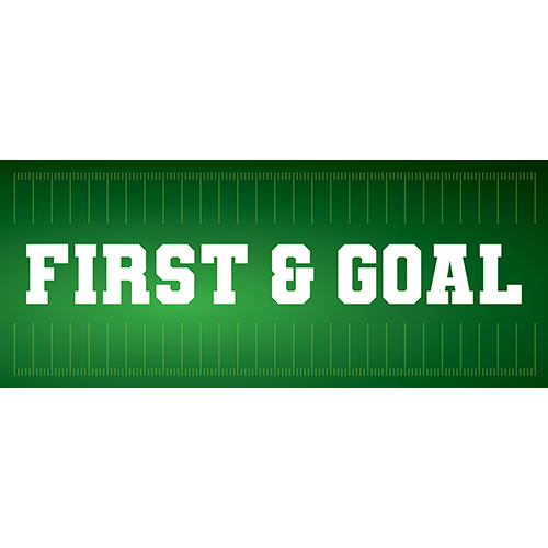 First And Goal American Football PVC Party Sign Decoration 60cm x 25cm