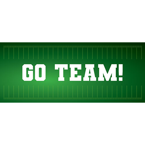 Go Team American Football PVC Party Sign Decoration 60cm x 25cm