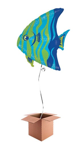 Angel Fish Helium Foil Giant Balloon - Inflated Balloon in a Box Product Image