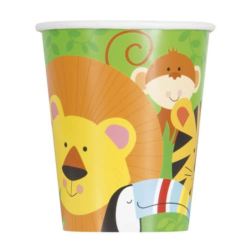 Animal Jungle Paper Cups 270ml - Pack of 8 Product Image