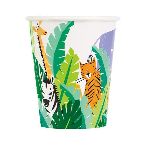 Animal Safari Paper Cups 270ml - Pack of 8