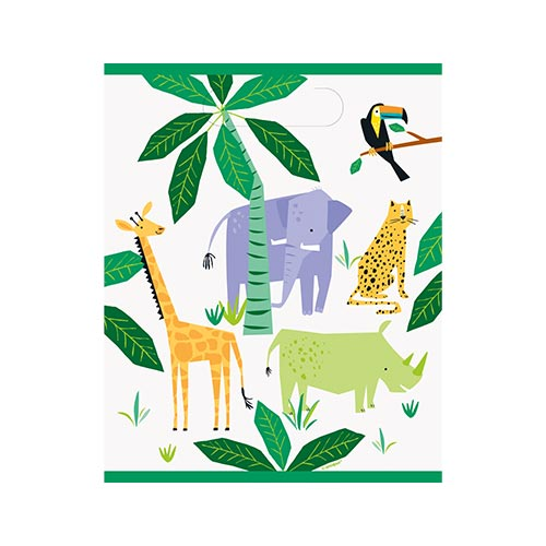 Animal Safari Party Loot Bags - Pack of 8 Product Image