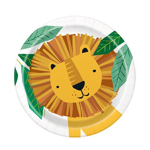 Animal Safari Round Paper Plates 17cm - Pack of 8 Product Image