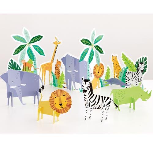 Animal Safari Table Decorating Kit