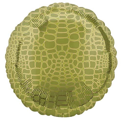 Animalz Alligator Print Round Foil Helium Balloon 43cm / 17 in Product Image