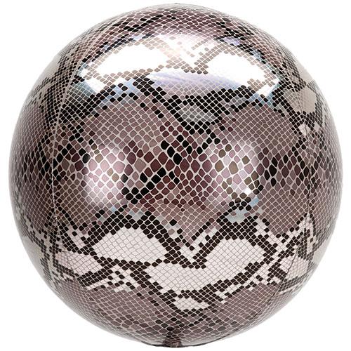 Animalz Snake Skin Print Orbz Foil Helium Balloon 38cm / 15 in