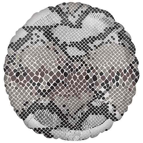 Animalz Snake Skin Print Round Foil Helium Balloon 43cm / 17 in