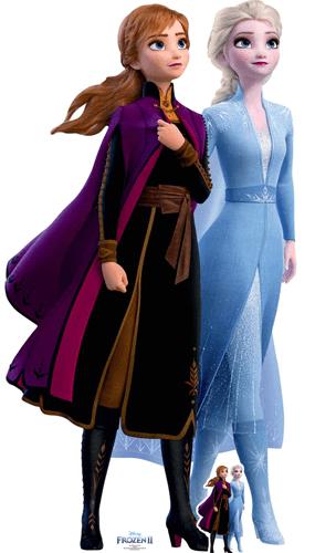 Anna And Elsa Journey Disney Frozen 2 Lifesize Cardboard Cutout 182cm