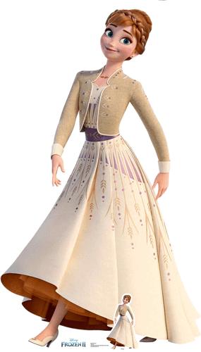 Anna Cream Dress Disney Frozen 2 Lifesize Cardboard Cutout 164cm