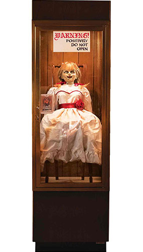 Annabelle Possessed Doll Glass Case Lifesize Cardboard Cutout 177cm Product Image