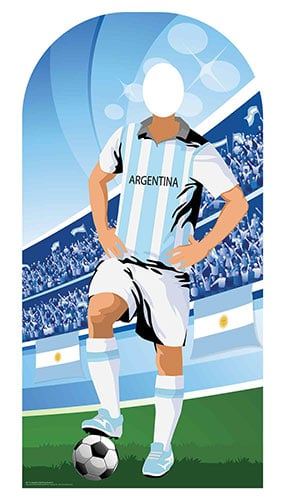 Argentina Football Stand-In Cardboard Cutout 190cm Product Image