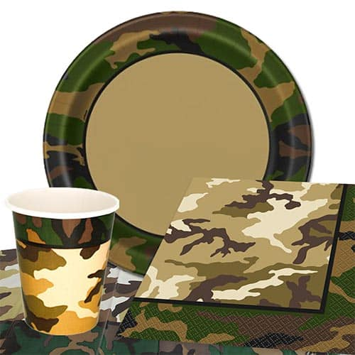 Army Camouflage Theme 8 Person Value Party Pack
