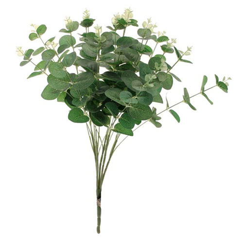 Artificial Green Eucalyptus Bush 48cm Product Gallery Image