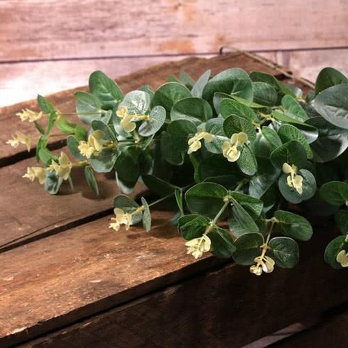 Artificial Green Eucalyptus Bush 48cm