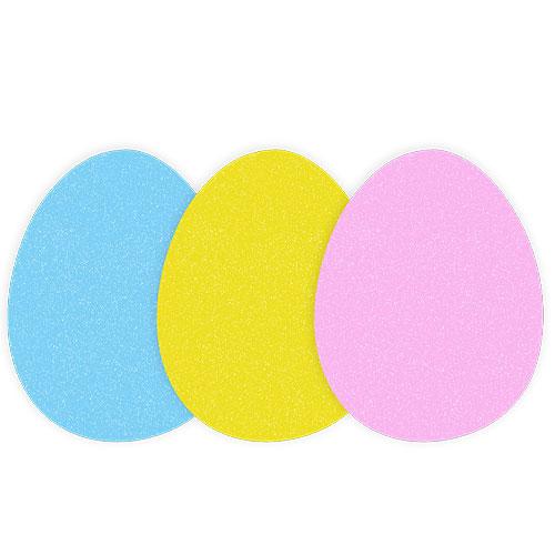 Arts & Crafts Easter Egg Foam Shapes - Pack of 12
