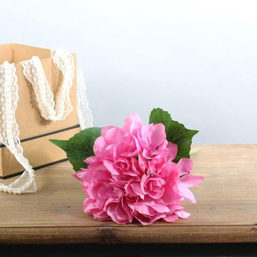 Arundel Hydrangea Pink Artificial Silk Flower 34cm Product Image