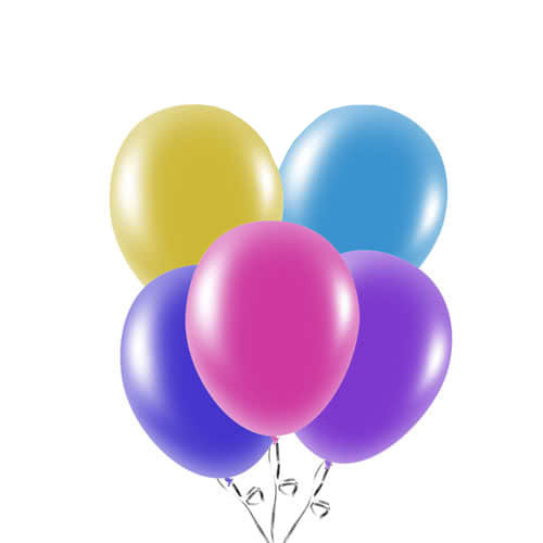 Assorted Biodegradable Latex Balloons 23cm / 9 in - Pack of 20 Product Image