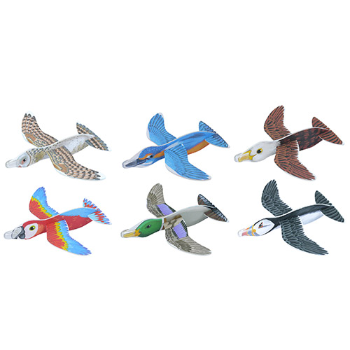 Assorted Bird Gliders Toy 16cm